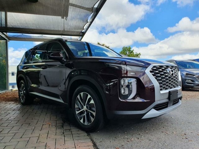 New Hyundai Palisade LX2.V1 MY21 2WD Springwood, 2020 Hyundai Palisade LX2.V1 MY21 2WD Sierra Burgundy 8 Speed Sports Automatic Wagon