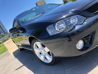 2008 Ford Falcon BF Mk II XR6 Ute Super Cab Black 4 Speed Sports Automatic Utility.