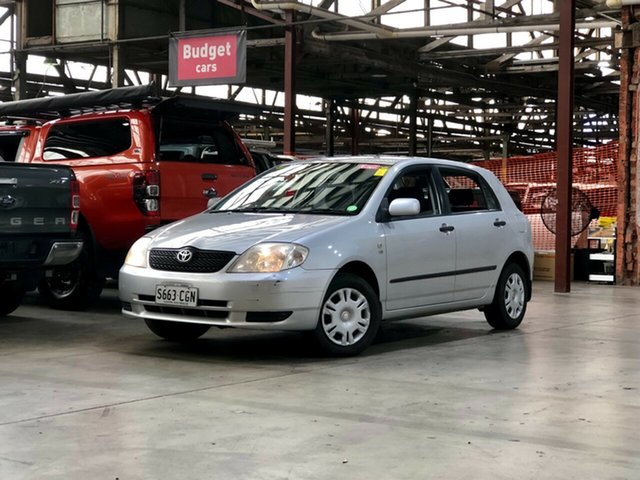 Used Toyota Corolla ZZE122R Ascent Mile End South, 2002 Toyota Corolla ZZE122R Ascent Silver 4 Speed Automatic Hatchback
