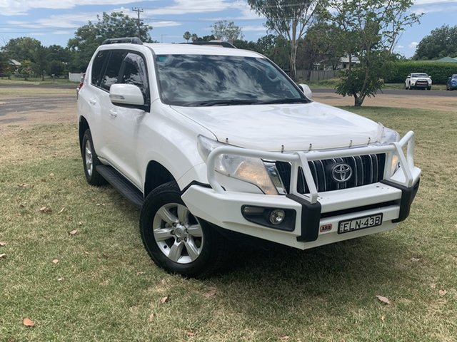 Pre-Owned Toyota Landcruiser Prado GDJ150R GXL Moree, 2016 Toyota Landcruiser Prado GDJ150R GXL White 6 Speed Sports Automatic Wagon