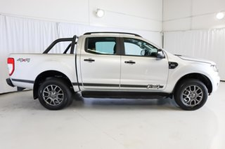 2018 Ford Ranger PX MkII 2018.00MY FX4 Double Cab Silver 6 Speed Sports Automatic Utility.