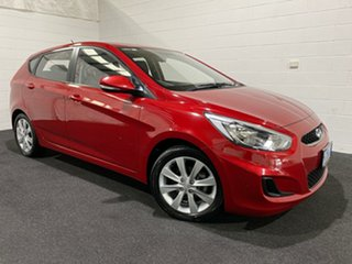 2018 Hyundai Accent RB6 MY18 Sport Pulse Red/black Clot 6 Speed Manual Hatchback.