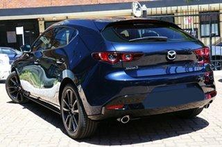 2020 Mazda 3 BP2HLA G25 SKYACTIV-Drive Astina Deep Crystal Blue 6 Speed Sports Automatic Hatchback.