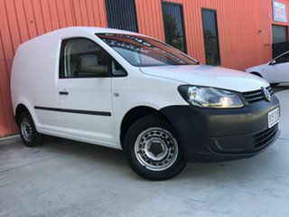 2013 Volkswagen Caddy 2KN MY13 TSI160 SWB Runner White 5 Speed Manual Van.