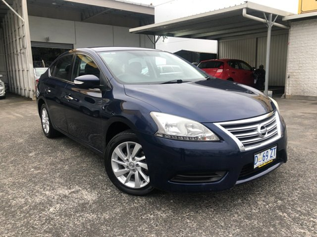 Used Nissan Pulsar B17 ST Derwent Park, 2013 Nissan Pulsar B17 ST Deep Sapphire 1 Speed Constant Variable Sedan