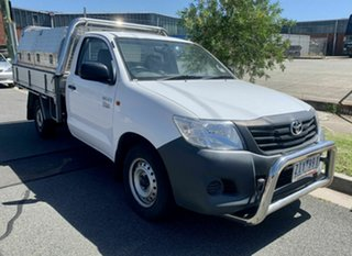 2012 Toyota Hilux TGN16R MY12 Workmate 4x2 White 4 Speed Automatic Cab Chassis.