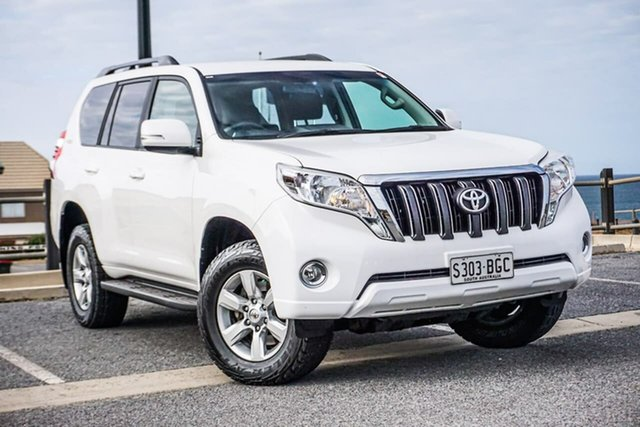 Used Toyota Landcruiser Prado KDJ150R MY14 GXL Christies Beach, 2015 Toyota Landcruiser Prado KDJ150R MY14 GXL White 5 Speed Sports Automatic Wagon