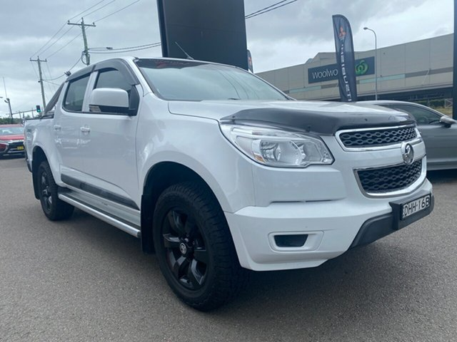Used Holden Colorado RG MY16 LS Crew Cab Cardiff, 2016 Holden Colorado RG MY16 LS Crew Cab White 6 Speed Sports Automatic Utility