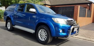 2012 Toyota Hilux KUN26R MY12 SR5 (4x4) Blue 4 Speed Automatic Dual Cab Pick-up