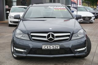 2014 Mercedes-Benz C-Class C204 C180 7G-Tronic + Avantgarde Grey 7 Speed Sports Automatic Coupe.