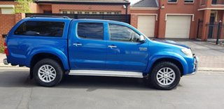 2012 Toyota Hilux KUN26R MY12 SR5 (4x4) Blue 4 Speed Automatic Dual Cab Pick-up.