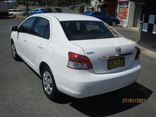 2007 Toyota Yaris NCP93R YRS White 5 Speed Manual Sedan.