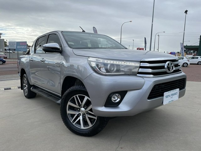 Used Toyota Hilux GUN126R SR5 Double Cab Victoria Park, 2017 Toyota Hilux GUN126R SR5 Double Cab Silver 6 Speed Sports Automatic Utility
