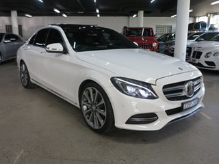 2014 Mercedes-Benz C-Class W205 C250 7G-Tronic + White 7 Speed Sports Automatic Sedan.