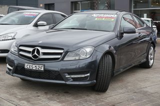 2014 Mercedes-Benz C-Class C204 C180 7G-Tronic + Avantgarde Grey 7 Speed Sports Automatic Coupe