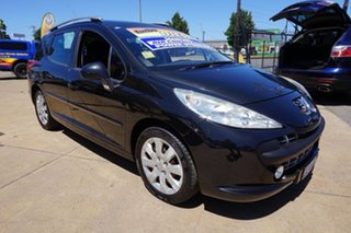 2009 Peugeot 207 A7 Series II MY10 XT Touring Obsidian Black 5 Speed Manual Wagon