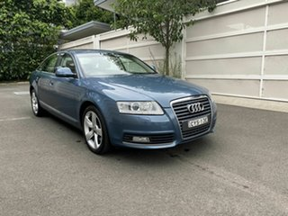 2009 Audi A6 4F MY09 Multitronic Blue 1 Speed Constant Variable Sedan.