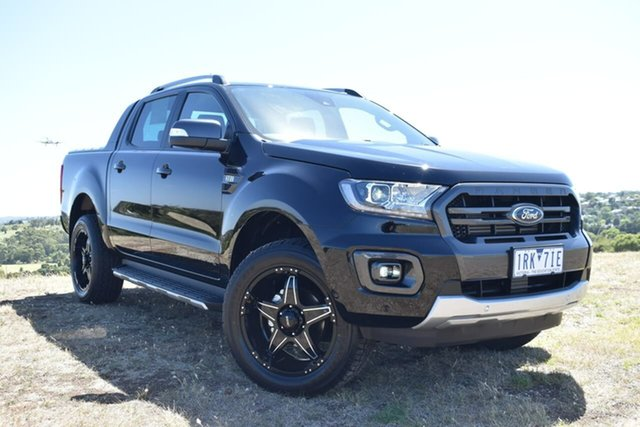 Used Ford Ranger PX MkIII 2020.75MY Wildtrak Essendon Fields, 2020 Ford Ranger PX MkIII 2020.75MY Wildtrak Black 6 Speed Sports Automatic Double Cab Pick Up
