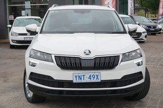 2020 Skoda Karoq NU MY20.5 110TSI DSG FWD Candy White 7 Speed Sports Automatic Dual Clutch Wagon.