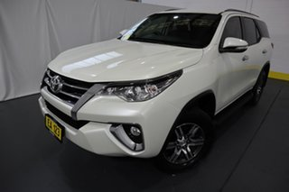 2017 Toyota Fortuner GUN156R GXL White 6 Speed Automatic Wagon.