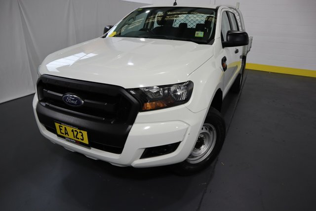 Used Ford Ranger PX MkII XL Hi-Rider Castle Hill, 2016 Ford Ranger PX MkII XL Hi-Rider White 6 Speed Sports Automatic Cab Chassis