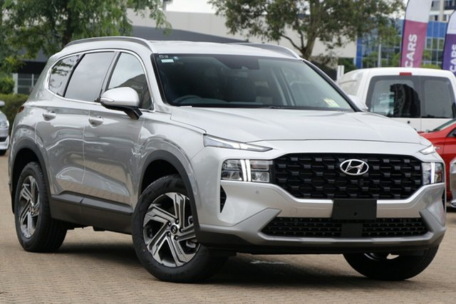 New Hyundai Santa Fe Tm.v3 MY21 Active DCT Moorooka, 2020 Hyundai Santa Fe Tm.v3 MY21 Active DCT Typhoon Silver 8 Speed Sports Automatic Dual Clutch