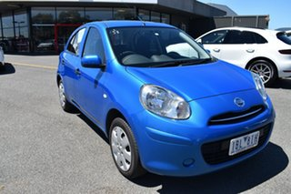 2012 Nissan Micra K13 ST-L Blue 4 Speed Automatic Hatchback.