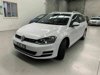 2014 Volkswagen Golf VII MY14 90TSI DSG White 7 Speed Sports Automatic Dual Clutch Wagon.