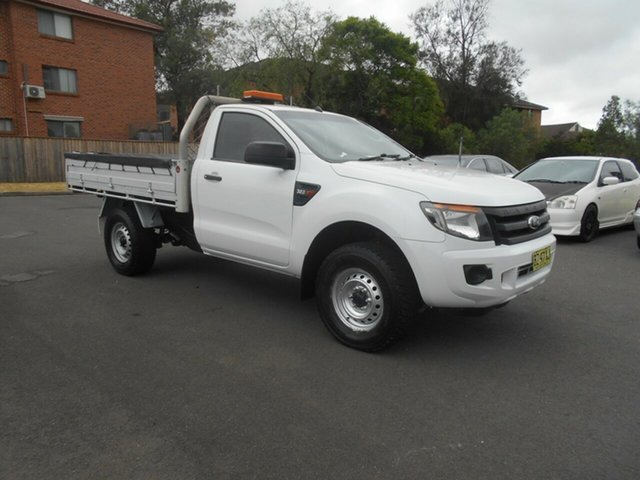 Used Ford Ranger PX XL 3.2 (4x4) Bankstown, 2014 Ford Ranger PX XL 3.2 (4x4) White 6 Speed Automatic Cab Chassis