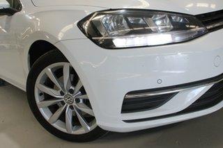 2017 Volkswagen Golf AU MY18 110 TSI Comfortline White 7 Speed Auto Direct Shift Wagon.