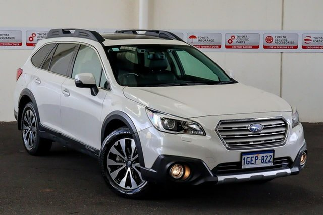 Pre-Owned Subaru Outback MY17 2.5I Premium AWD Myaree, 2017 Subaru Outback MY17 2.5I Premium AWD White Continuous Variable Wagon