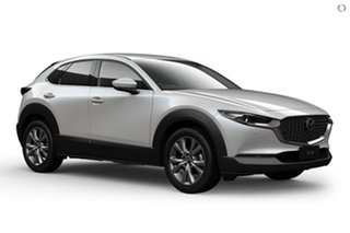 2020 Mazda CX-30 DM4WLA G25 SKYACTIV-Drive i-ACTIV AWD Touring White 6 Speed Sports Automatic Wagon.