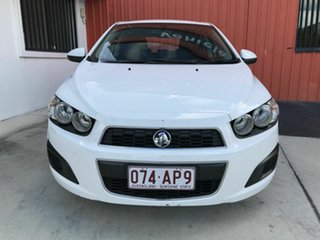 2014 Holden Barina TM MY14 CD White 6 Speed Automatic Hatchback.