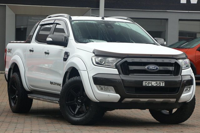 Used Ford Ranger PX MkII Wildtrak Double Cab Parramatta, 2017 Ford Ranger PX MkII Wildtrak Double Cab White 6 Speed Sports Automatic Utility