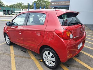 2013 Mitsubishi Mirage LA MY14 LS Red 5 Speed Manual Hatchback