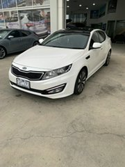 2011 Kia Optima TF MY12 Platinum White 6 Speed Sports Automatic Sedan.