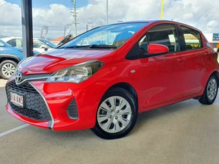 2015 Toyota Yaris NCP130R MY15 Ascent Red 4 Speed Automatic Hatchback