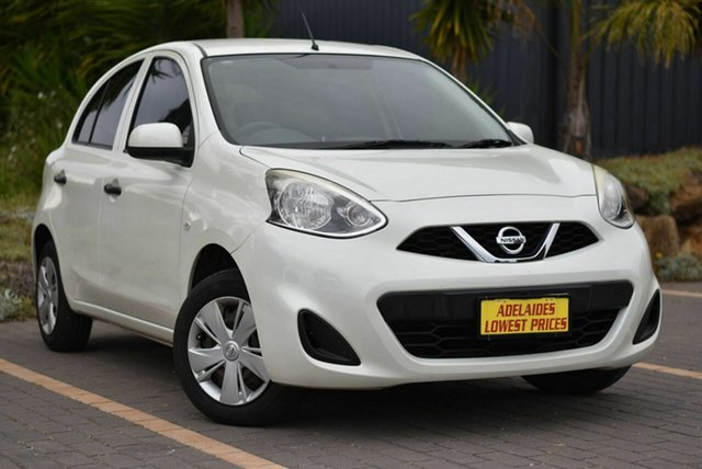 Used Nissan Micra K13 Series 4 MY15 ST Morphett Vale, 2015 Nissan Micra K13 Series 4 MY15 ST White 5 Speed Manual Hatchback