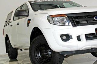 2015 Ford Ranger PX XL 2.2 Hi-Rider (4x2) White 6 Speed Manual Crew Cab Pickup.