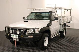 2012 Nissan Patrol Y61 GU 6 SII MY13 DX White 5 speed Manual Cab Chassis.