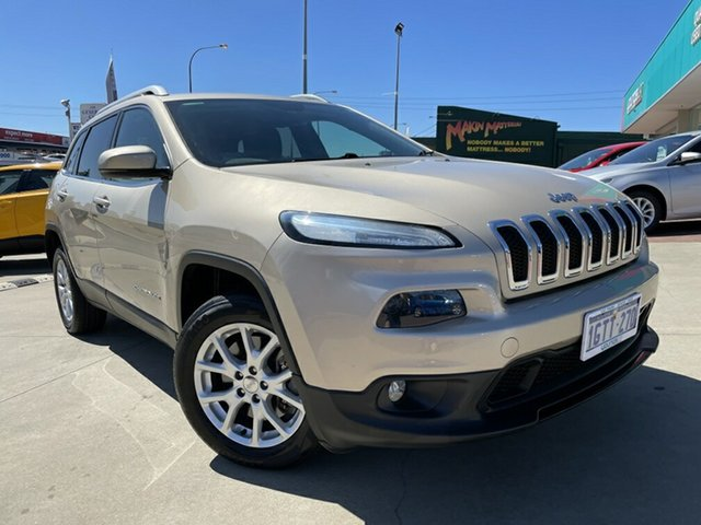 Used Jeep Cherokee KL Longitude (4x4) Victoria Park, 2014 Jeep Cherokee KL Longitude (4x4) Gold 9 Speed Automatic Wagon
