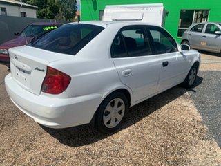2004 Hyundai Accent White Automatic Hatchback.
