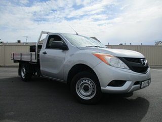 2013 Mazda BT-50 UP0YD1 XT 4x2 Grey 6 Speed Manual Cab Chassis.