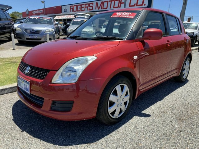 Used Suzuki Swift EZ 07 Update Victoria Park, 2010 Suzuki Swift EZ 07 Update Red 5 Speed Manual Hatchback