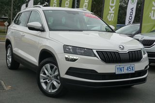 2019 Skoda Karoq NU MY20 110TSI DSG FWD Candy White 7 Speed Sports Automatic Dual Clutch Wagon.