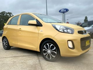 2016 Kia Picanto TA MY17 SI Yellow 4 Speed Automatic Hatchback.