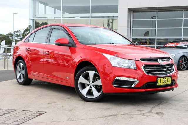 Used Holden Cruze JH Series II MY16 Z-Series Liverpool, 2016 Holden Cruze JH Series II MY16 Z-Series Red 6 Speed Sports Automatic Sedan