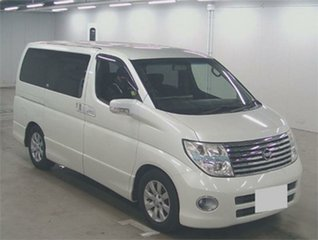 2005 Nissan Elgrand NE51 Highwaystar White Automatic Wagon.