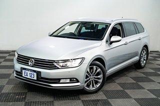 2016 Volkswagen Passat 3C (B8) MY17 132TSI DSG Comfortline Silver 7 Speed.