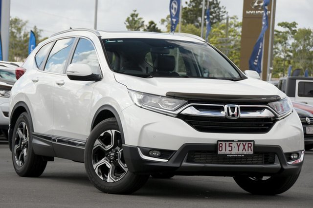 Used Honda CR-V RW MY19 VTi-L FWD Aspley, 2018 Honda CR-V RW MY19 VTi-L FWD White 1 Speed Constant Variable Wagon